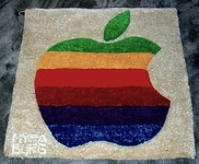 apple rainbow logo wall hanging