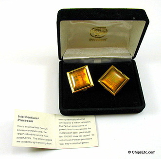 image of Intel Pentium Computer chip cuff links