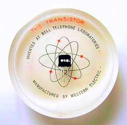 western electric  transistor paperweight