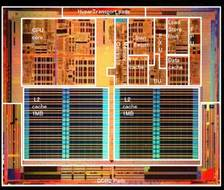 image of an AMD Athlon 64 CPU Chip close-up
