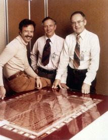 image of Intel founders robert n. noyce, gordon moore and andy grove