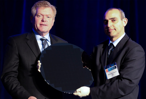 image of Intel 450mm wafer