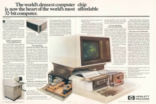 image of an HP 9000 Computer Ad from 1983