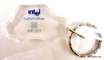 intel keychain with 83C251 microcontroller automotive chip