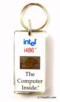 image of an intel keychain with 486 cpu chip