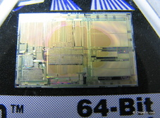image of an Intel i860 chip close-up