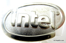 image of an Intel logo tie tack
