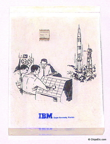 image of a A NASA IBM Computer Chip Paperweight