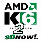 image of AMD k6-2 processor 3D now advertsing logo