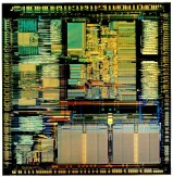 Close-up image of Intel 386 CPU