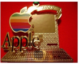 apple computer christmas ornament