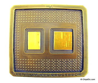 image of an Intel Penitum Pro computer chip belt buckle