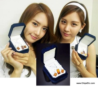 image of SNSD with intel chip jewerly