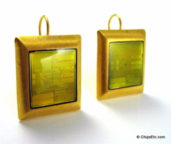 Intel chip Earrings