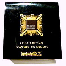 image of a Cray Y-MP C90 paperweight