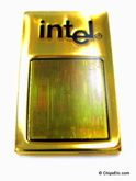 image of an Intel Pentium 4 Processor chip lapel pin
