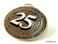 image of an Intel 25 years pin