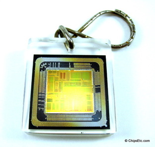 image of an intel keychain with Pentium P5 cpu chip