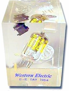 western electric vacuum tube paperweight