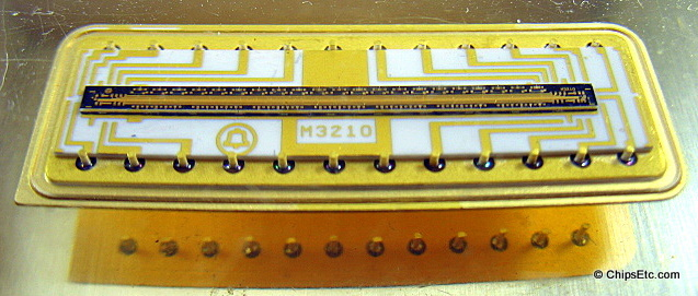 gold plating computer chip