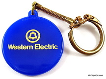 image of western electric keychain