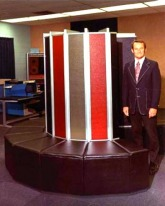 image of Seymour Cray with the Cray-1 supercomputer 1975