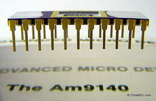 image of an AMD 9140 RAM chip AM9140