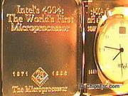 Intel 4004 Microprocessor chip clock