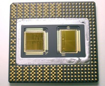 image of an Intel Pentium Pro CPU & Memory chips