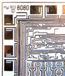 image of an Intel 8080 microprocessor chip circuitry