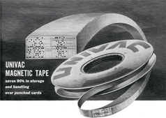 image of the Univac Computer Magnetic Tape Ad from 1953
