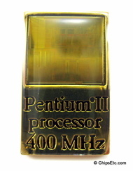 image of an Intel Pentium II chip lapel pin