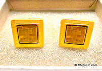 image of intel cuff links with pentium chips
