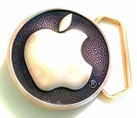 Apple Computer Brass Belt Buckle