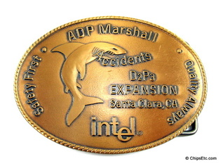 image of an Intel Santa Clara D2 expansion belt buckle