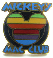 Apple mac club disney pin