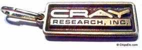 image of a Cray research keychain