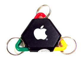 apple logo keyring