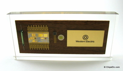 Western Electric Transistor IC Paperweight