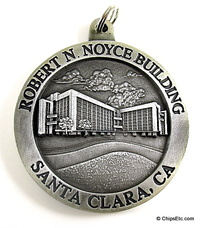 image of an intel Robert N. Noyce building dedication medallion