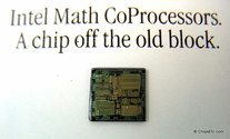 image of intel 387 CoProcessor chip close-up