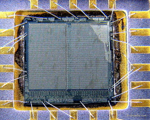 image of an AMD 9140 AM9140 RAM chip