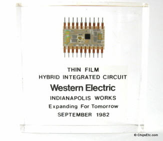 Western Electric Thin Film Hybrid Integrated Circuit paperweight