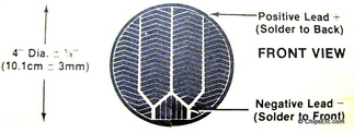 leads on solar cell