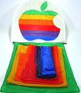 apple computer logo kite