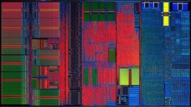 image of an AMD K6-2 CPU Chip