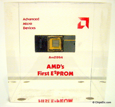 AMD's first EEPROM chip paperweight