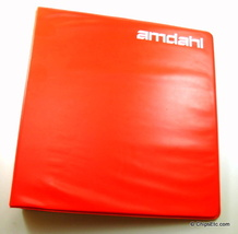 image of an Amdahl computer manual binder