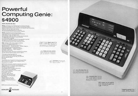 image of an HP 9100A  Computer Calculator Ad from 1968