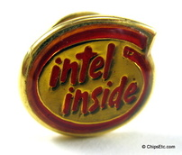 image of an intel inside pin